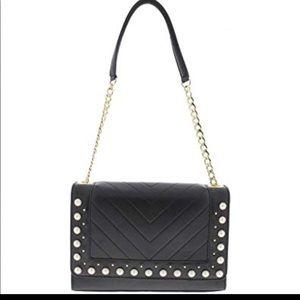Handbags - Karl Lagerfeld Pearl Quilted Shoulder Handbag